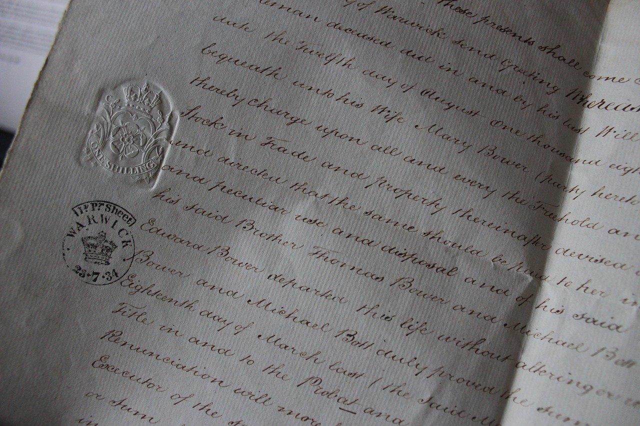 letter, document, handwriting